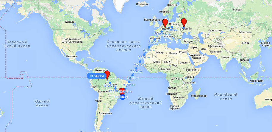 Карта в РИо
